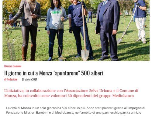 """Il giorno in cui a Monza """"spuntarono"""" 500 alberi"""