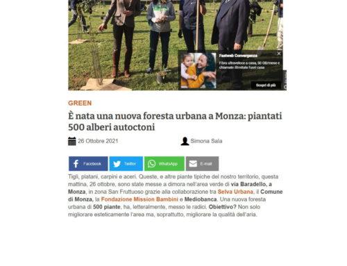 È nata una nuova foresta urbana a Monza: piantati 500 alberi autoctoni