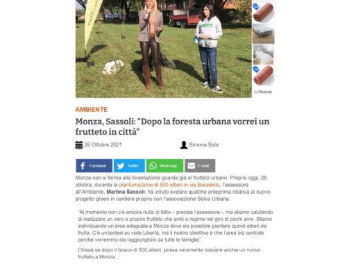 """Monza, Sassoli: """"Dopo la foresta urbana vorrei un frutteto in città"""""""